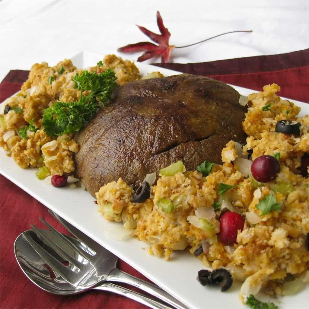 "Vegan ""Turkey"" Roast with Stuffing"