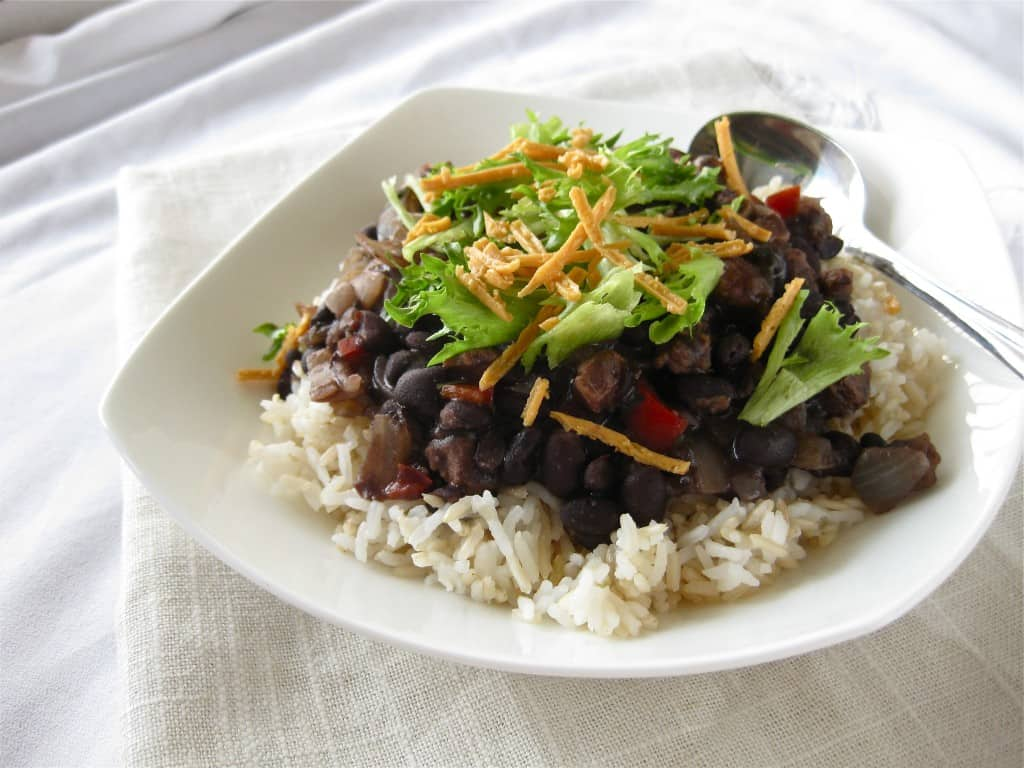 Zesty Black Beans on Rice