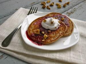 Oatmeal Walnut Pancakes