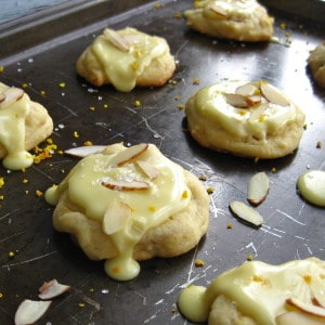 Glazed Orange Almond Cookies