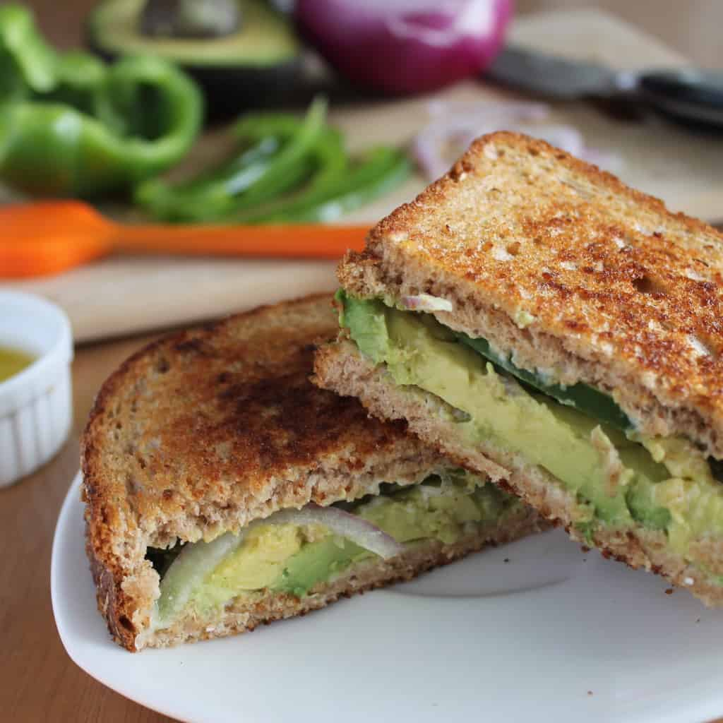 Grilled Avocado Sandwiches