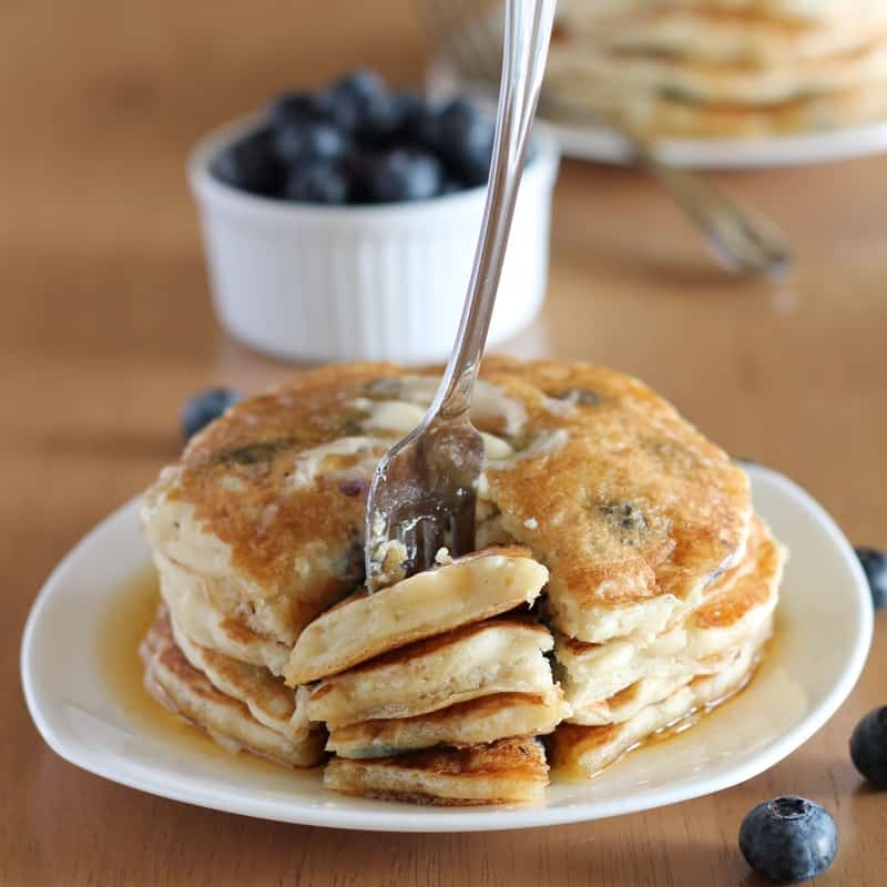 Blueberry Pancakes Fork
