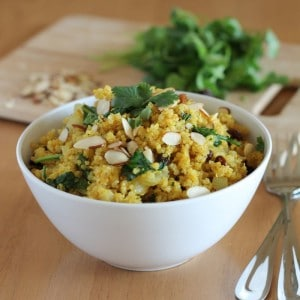 Curried Quinoa with Spinach