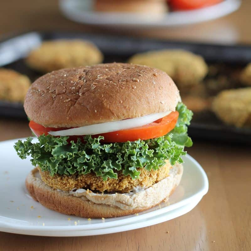 Baked Chickpea Burgers
