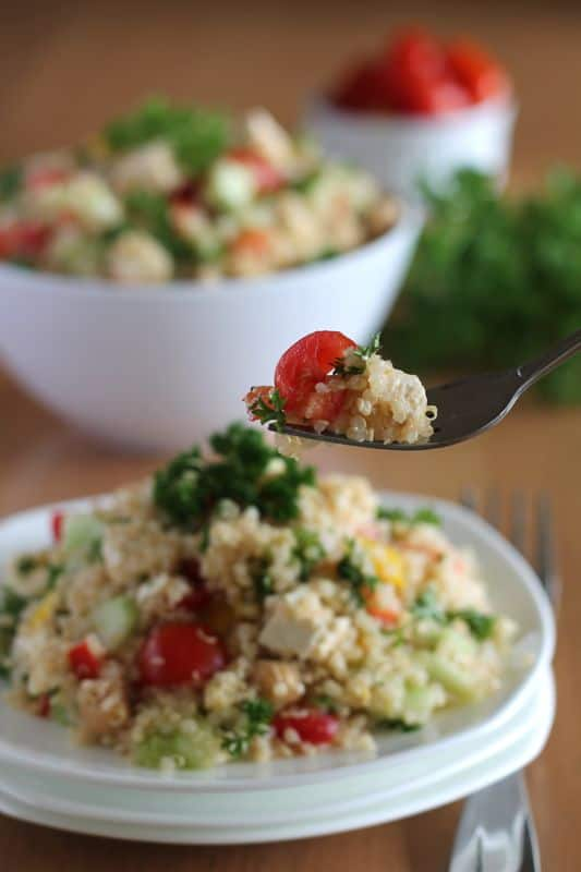 ... quinoa tabbouleh salad recipe chefdehome com simplest quinoa tabbouleh