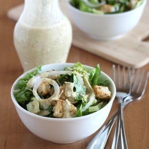 Caesar Salad Dressing Vegan Style