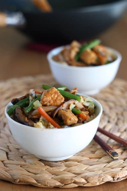 Tofu and Shiitake Stir-Fry 1