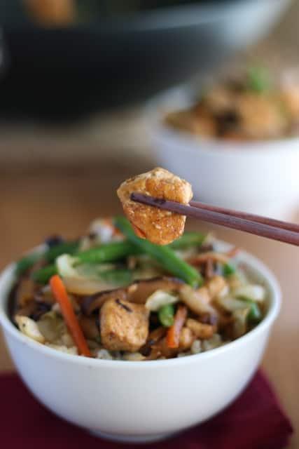 Tofu and Shiitake Stir-Fry 2