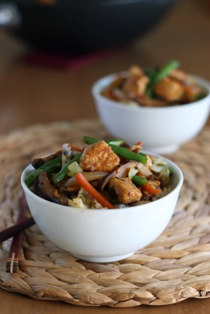 Tofu and Shiitake Stir-Fry with Vegetables