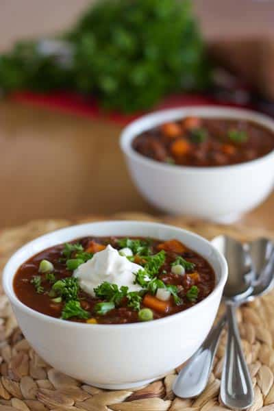 Mixed Bean and Sweet Potato Chili Lr