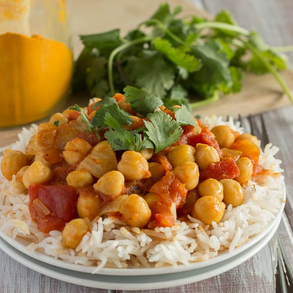 Quick and Easy Chana Masala + Giveaway!