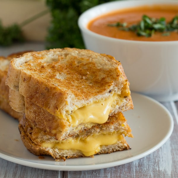 Grilled Cheese Sandwiches Square