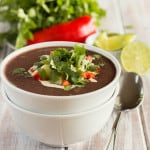 Tangy Black Bean Soup Square