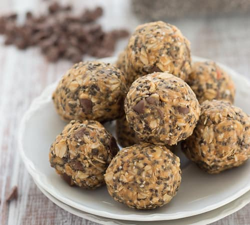 Peanut Butter Carob Chip Energy Bites