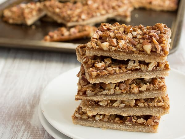 Maple Pecan Pie Bars Square