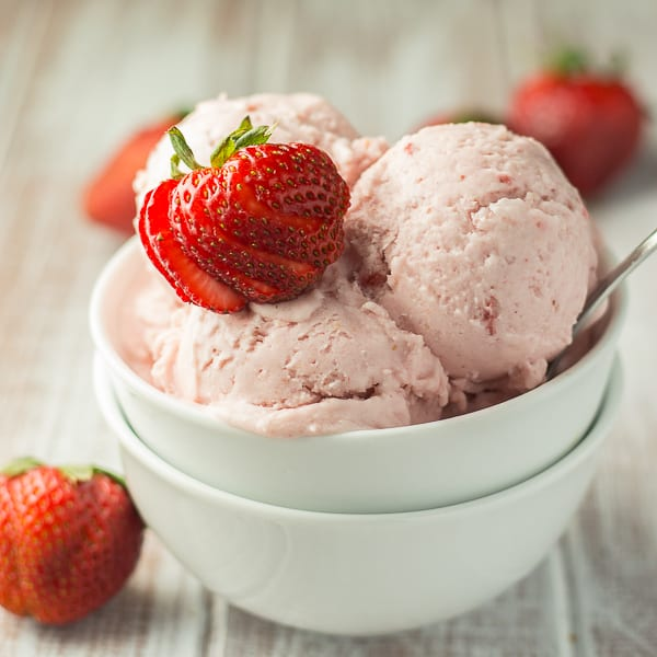 Vegan Strawberry Coconut Ice Cream