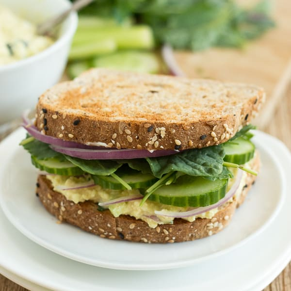 Vegan Tofu Egg Salad Sandwiches