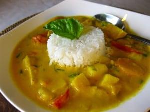 Pumpkin Tofu Curry