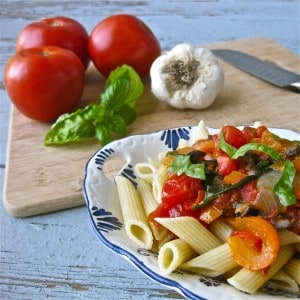Penne with Garden Vegetables
