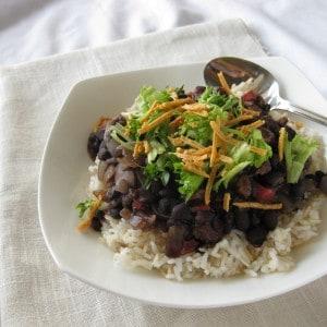 Zesty Black Beans on Rice