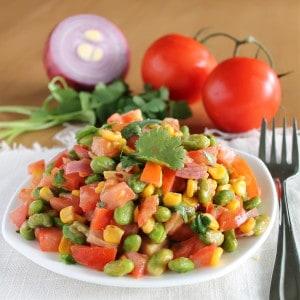 Roasted Edamame Salad for One