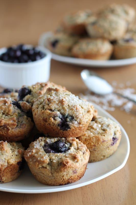 Blueberry oat muffins vegan yumminess - Garden lites blueberry oat muffins ...