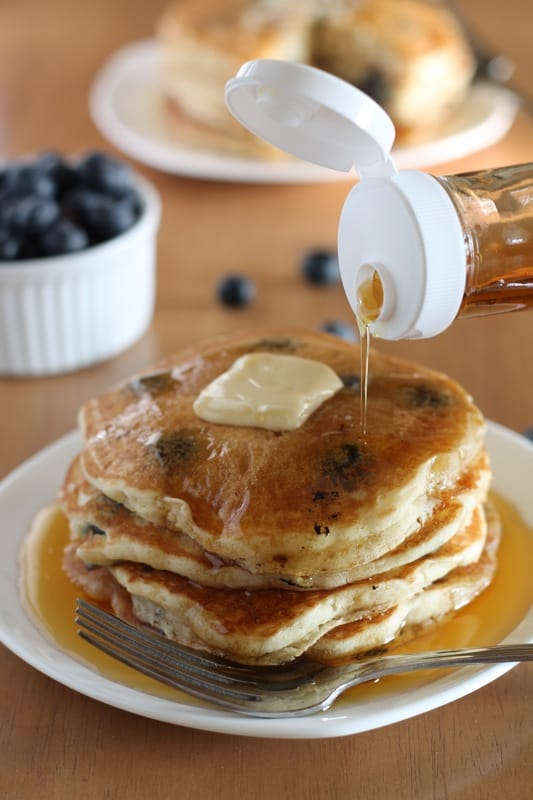 Blueberry Pancakes Syrup Pour