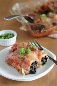 Vegan Black Bean and Kale Enchiladas