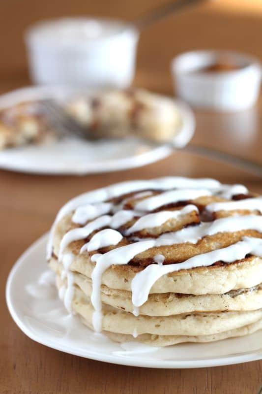 Cinnamon Roll Pancakes 5