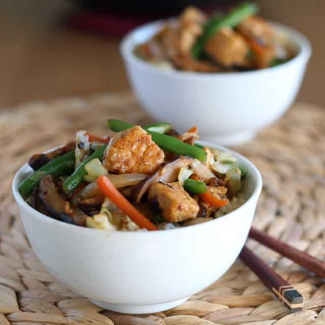 Tofu Shiitake Stir-Fry Square