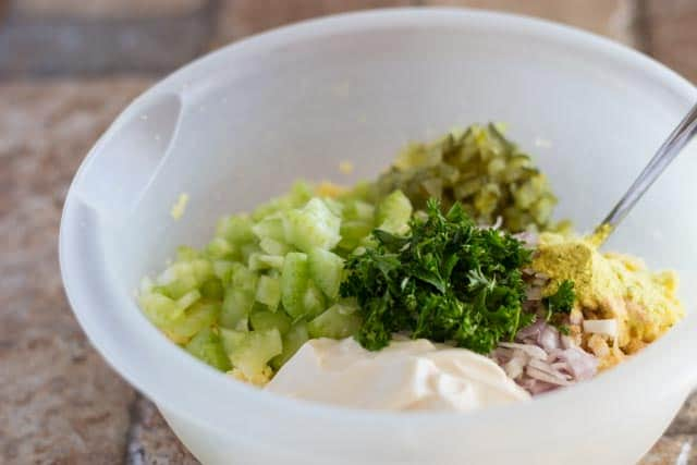 "Burmese Tofu ""Egg"" Salad 2"