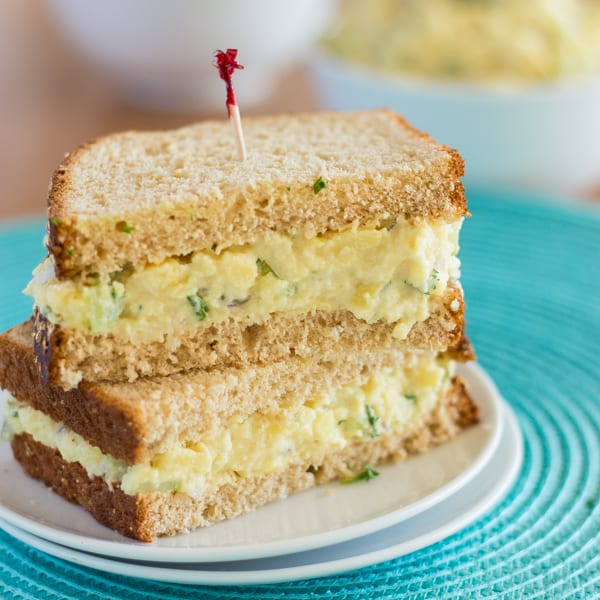 "Burmese Tofu ""Egg"" Salad Sandwiches Square 2"