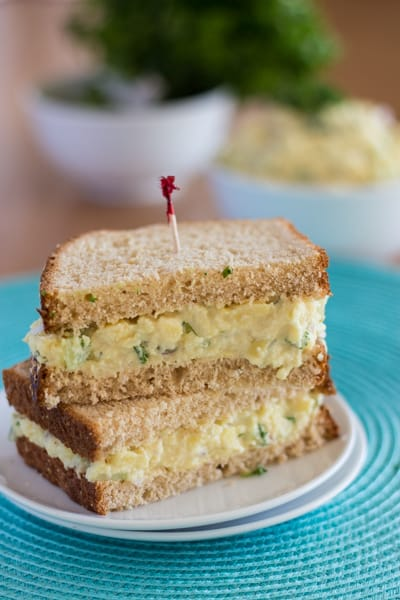 "Burmese Tofu ""Egg"" Salad Sandwiches"