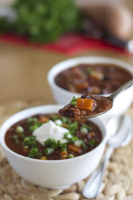 Mixed Bean and Sweet Potato Chili