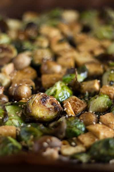 Sweet Sesame Roasted Brussel Sprouts 5