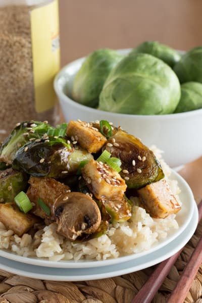 Sweet Sesame Roasted Brussel Sprouts 8