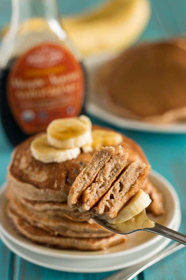 Fluffy Banana Pancakes 3