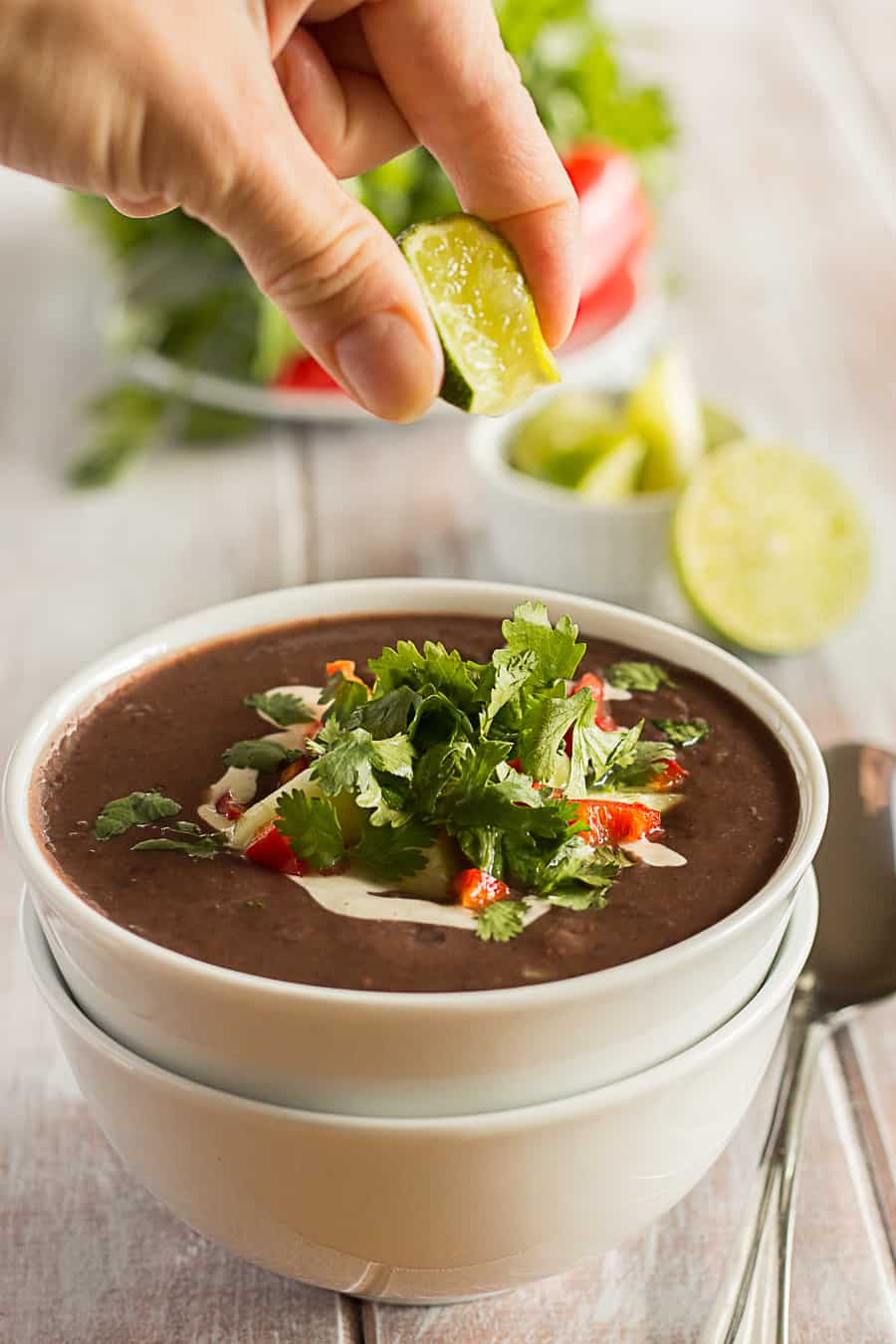 Vegan Tangy Black Bean Soup