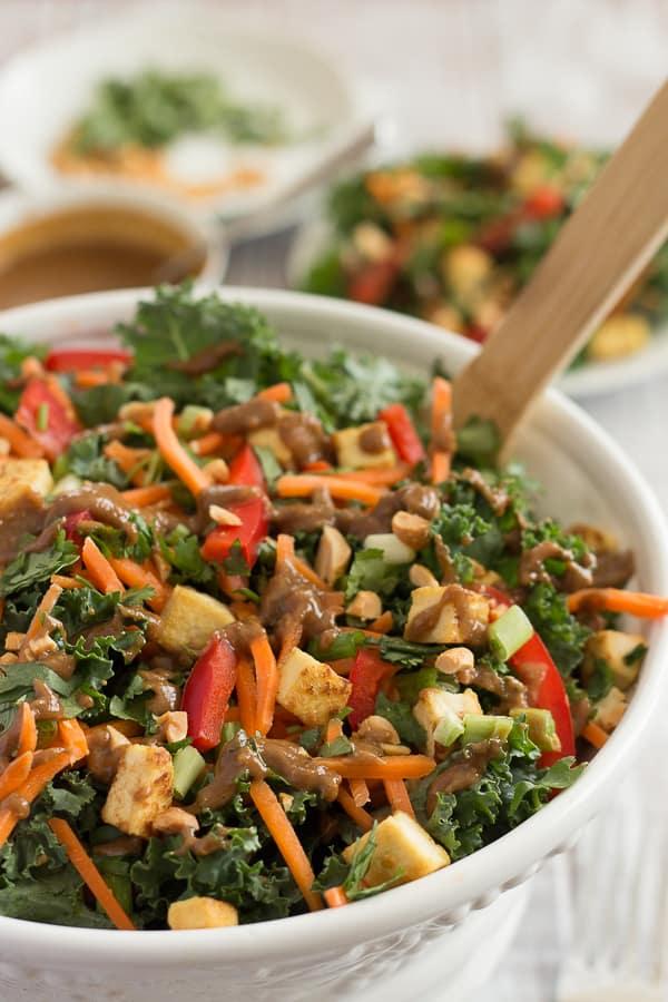 Thai Peanut Kale Salad