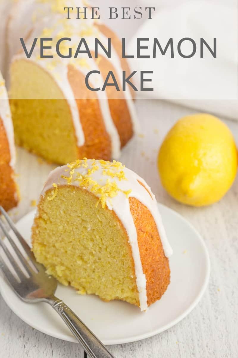 The best vegan lemon cake you'll ever eat!